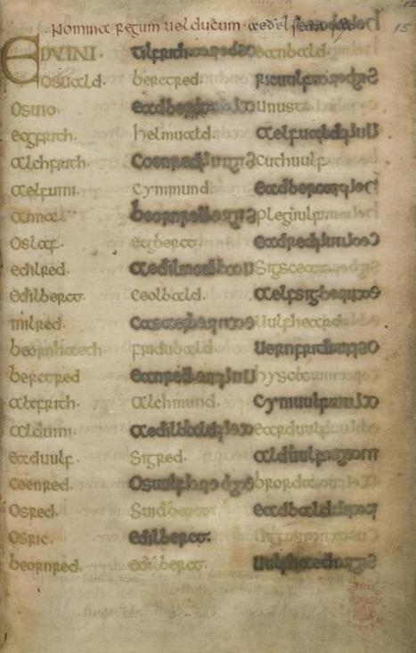The Durham Book of Life Online - Medieval and Earlier Manuscripts | Special Collections Librarianship | Scoop.it