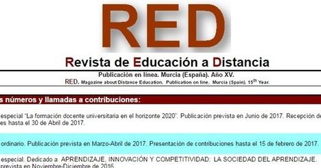 e-learning , conocimiento en red: Número 50 de RED . Revista de Educación a Distancia. Universidad de Murcia @umnoticias | Formación, tecnología y sociedad | Scoop.it