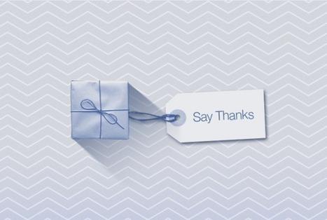 Facebook lance « Say Thanks » - Le Journal du Geek | Les impacts du web 2.0 sur l'entreprise | Scoop.it