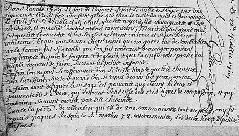 Racines.org - L'hiver de 1709 bientôt de retour ? | GenealoNet | Scoop.it
