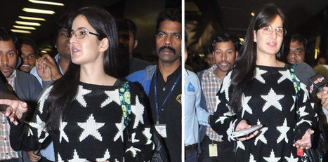 Katrina Kaif Spotted At Airport Returning From New York | Celebrity Glasses | EyeGlasses | Scoop.it