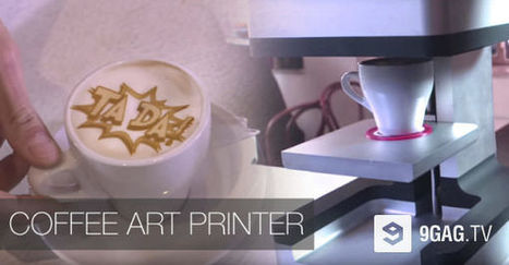 This Coffee Art Printer Imprints Any Image Onto Your Coffee With Ridiculous Detail | 9GAG.tv | Creative Innovation | Scoop.it