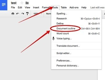 Document Outline Is An Excellent New Feature in Google Docs ~ Educational Technology and Mobile Learning | Technology News | Scoop.it