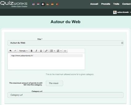 Quizworks, créer un quiz gratuit et en ligne | Autour du Web | Au fil du Web | Scoop.it