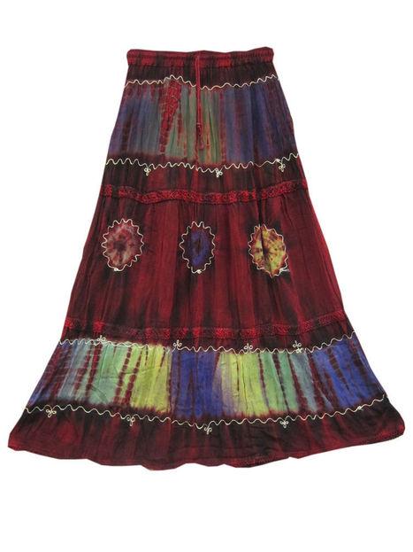 Maroon Long Skirt Tie Dye Vintage Gypsy Skirts | Bohemian Fashion | Scoop.it
