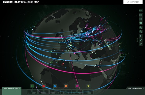 An Interactive #Map Showing Global #Cyberattacks In Real Time | #dataviz | e-Xploration | Scoop.it