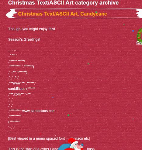 Christmas Text/ASCII Art | Christmas | Santa Claus.com | ASCII Art | Scoop.it