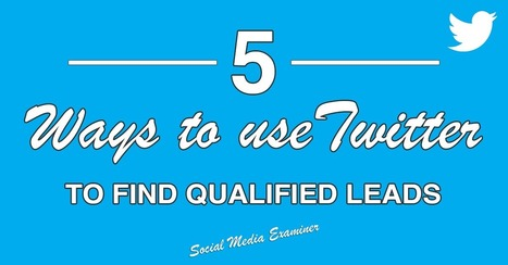 5 Ways to Find Leads and Customers on Twitter | Social Media, SEO, Mobile, Digital Marketing | Scoop.it