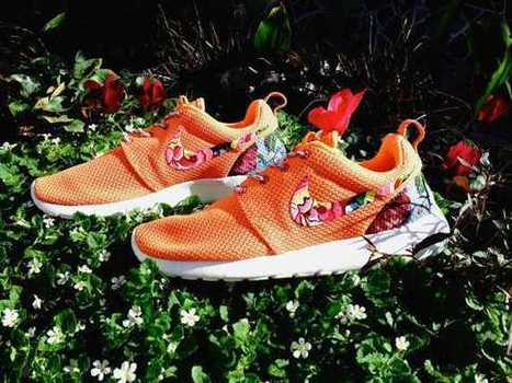 UK Trainers Nike Roshe Runs Custom Floral Womens Turf Orange Size 3.5 - 6.5 Low Shipping Fee Cheap Price | Nike Roshe Run Black And White | Scoop.it