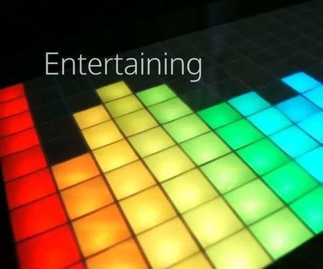 Touch LED table - Retrogaming and ambiant light   Open Source Hardware News   Scoop.it