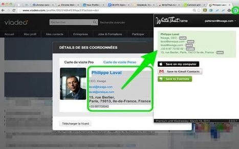 Evercontact, guarda la información de contacto desde cualquier sitio web desde Chrome | Educacion, ecologia y TIC | Scoop.it