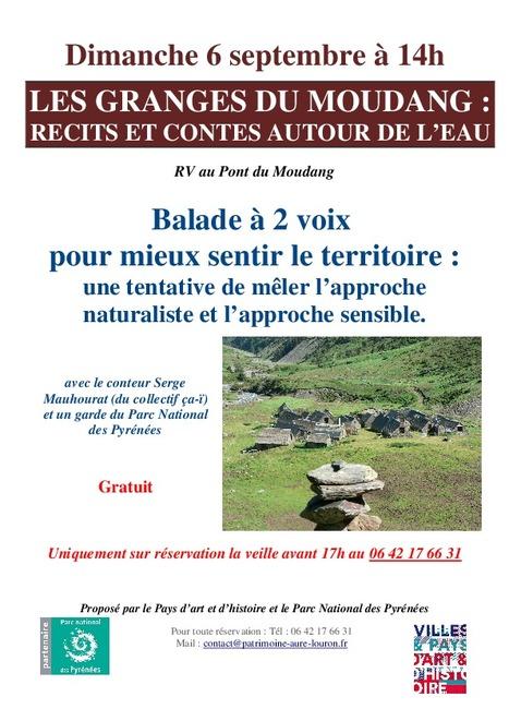 Balade à deux voix aux granges du Moudang le 6 septembre | Pays d'Art et d'Histoire des vallées d'Aure et du Louron | Vallée d'Aure - Pyrénées | Scoop.it