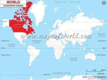 Where is Canada | Canada Location in World Map | North, South America, and Asia | Scoop.it