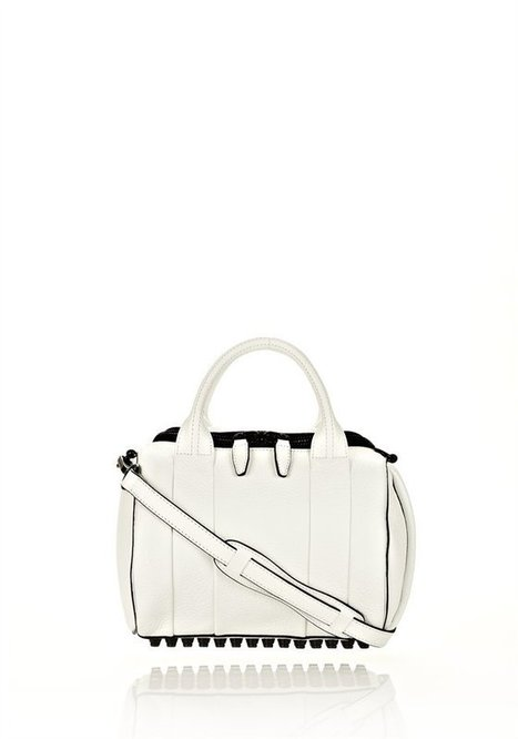 White Rockie In White Soft Pebble With Matte Black - Alexander Wang   Top Handbags   Scoop.it
