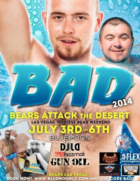 BEARS ATTACK THE DESERT!  JULY 3-6   Gay Vegas   Scoop.it
