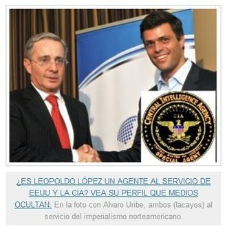 Historia secreta de Leopoldo López, la CIA y lo que quieren para Venezuela | @CNA_ALTERNEWS | La R-Evolución de ARMAK | Scoop.it