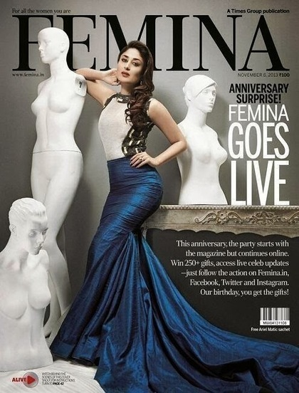 Kareena Kapoor On Magazine Cover - Femina November 2013 - 99share.in | Photoshoot | Scoop.it