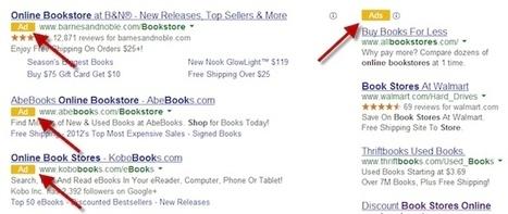 SERP : Google affiche une étiquette jaune à côté des publicités | SEO - Référencement naturel | Scoop.it