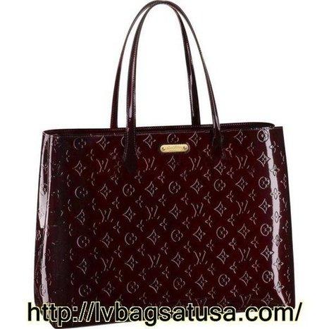 Louis Vuitton Wilshire GM Monogram Vernis M91649   Original Louis Vuitton Outlet Online   Scoop.it