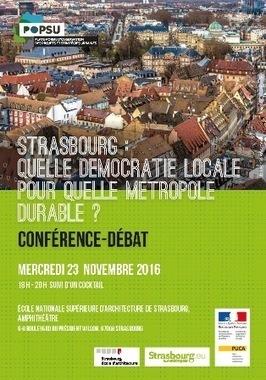 Rencontre Popsu - 23 novembre / Strasbourg: quelle democratie locale pour quelle metropole durable ? - PUCA   Ambiances, Architectures, Urbanités   Scoop.it