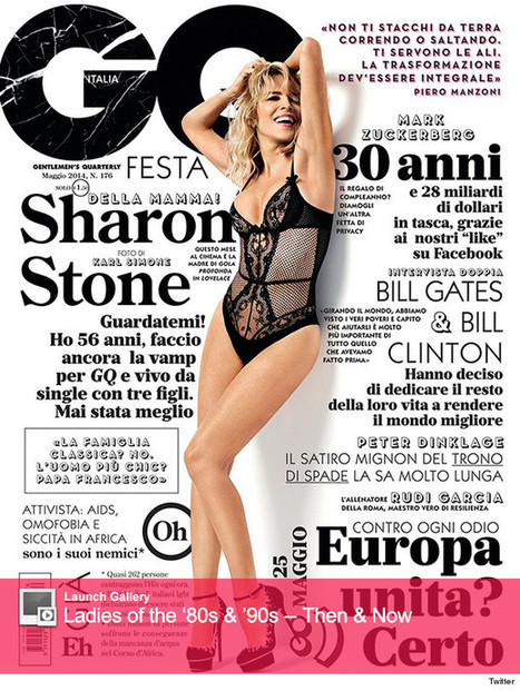 Sharon Stone on GQ Italia Cover -- 56-Year-Old Poses in Lingerie - TooFab.com | Lingerie | Scoop.it
