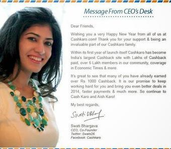 Founder of Cashkaro:Swati Bhargava | Cashback Industry News, Reports, Blog and Tips | Scoop.it