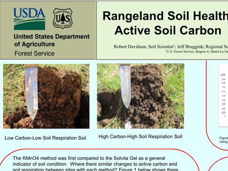 Indicateurs de la santé du sol des pâtures dans l'Utah : Comparaison des méthodes de terrain :  la Respiration du sol et le Carbone actif du sol. | Chimie verte et agroécologie | Scoop.it