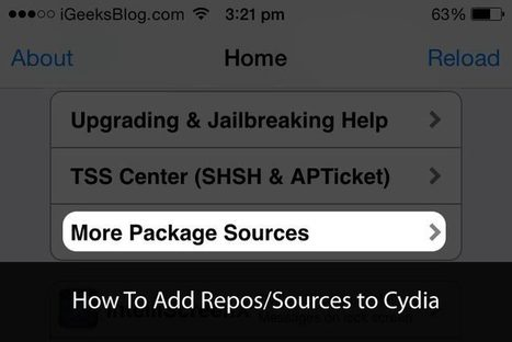 How To Add Repos/Sources to Cydia in iOS 8 on iPhone and iPad | Cydia Tweaks | Scoop.it