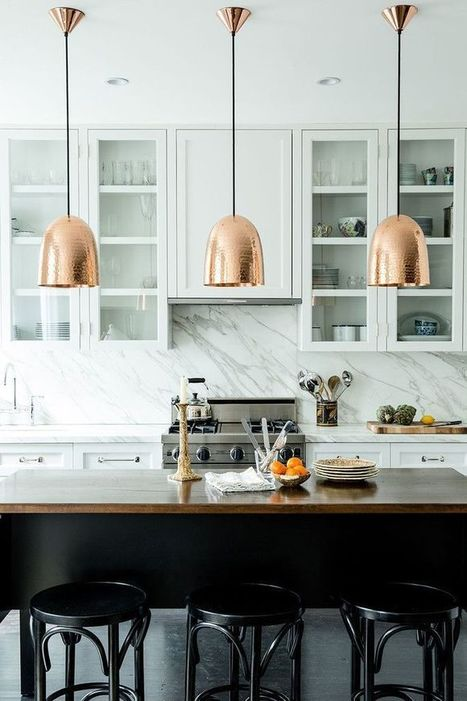 Awesome Interior Kitchen Design with  Modern Pendant Light Fixtures | News Info | Scoop.it