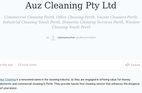 Auz Cleaning Pty Ltd | Auz Cleaning Pty Ltd | Scoop.it