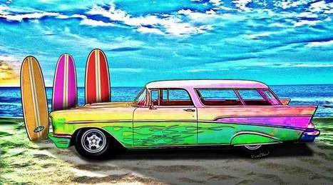 57 Chevy Nomad Wagon Best Part Of Waking Up | VivaChas!  Hot Rod Art | Scoop.it