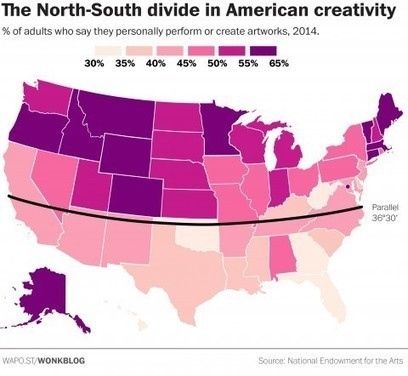 The stunning geographic divide in American creativity | Learning | Scoop.it
