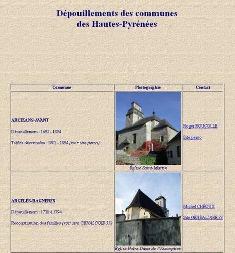 Dépouillements des Communes des Hautes-Pyrénées (65) | Mes Hautes-Pyrénées | Scoop.it