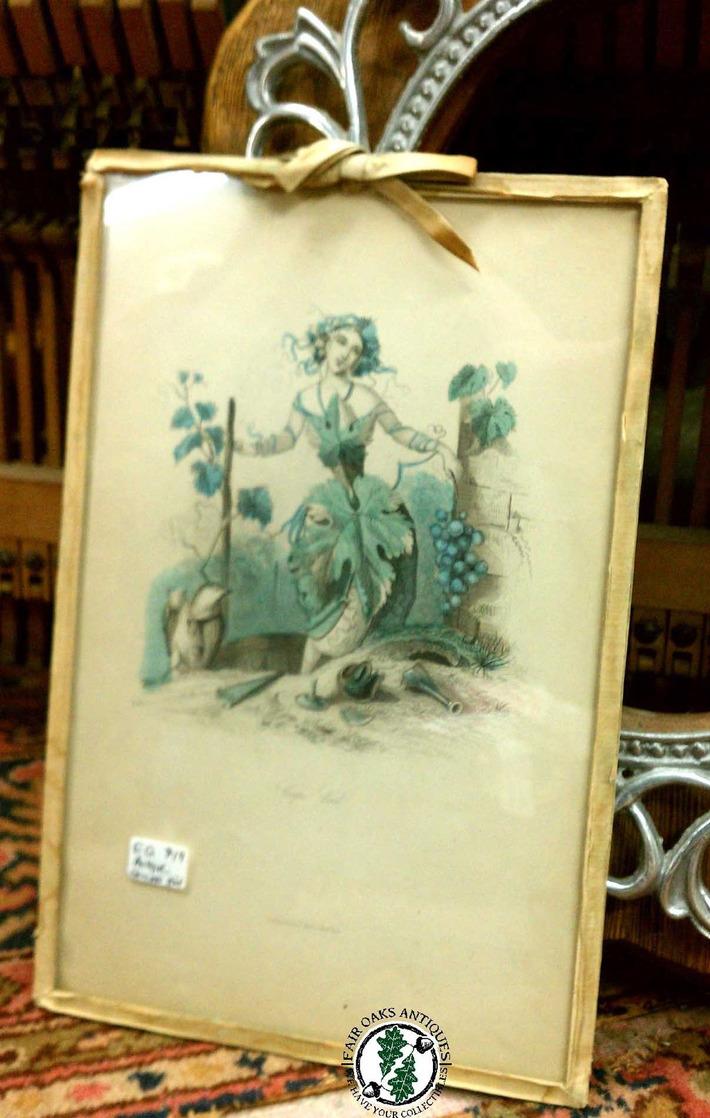"""Fair Oaks Antiques — A lovely antique """"Grape Vine"""" print celebrating...   Antiques & Vintage Collectibles   Scoop.it"""