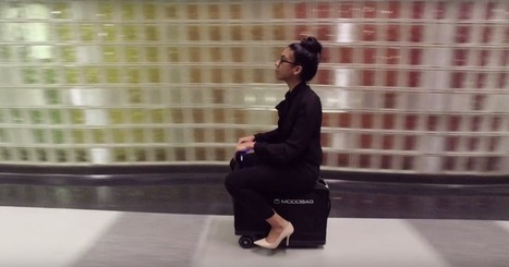 Motorized suitcase lets you ride to your gate like a boss | Tools You Can Use | Scoop.it