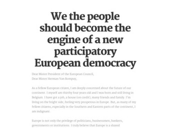 We the people should become the engine of a new participatory European democracy   real utopias   Scoop.it