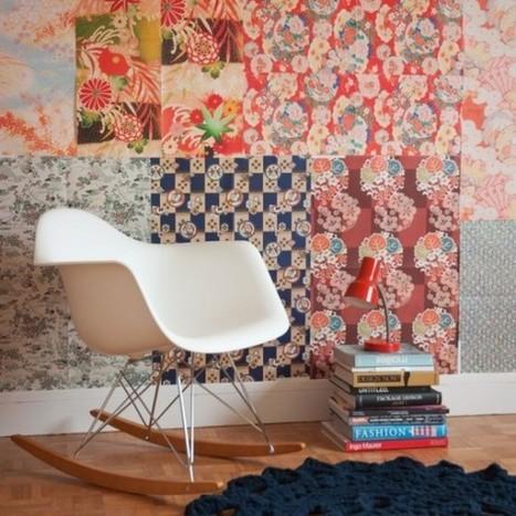 Les papiers peints Kimono   DailyELLE   Devis Peinture - Entreprise Peinture-Déco   Scoop.it