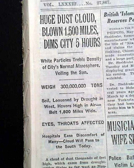 NewsPaper Article (Primary Document #2) | The Dust Bowl (0129) | Scoop.it