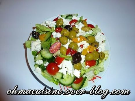 Salade à la grecque   C'est bon, ça se mange, ça se boit   Scoop.it