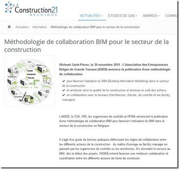 Les professionnels du BTP et de l'Architecture Belges publient leur guide méthodologique BIM | Ing_Building | Scoop.it