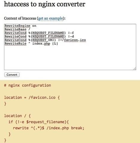 Comment convertir un .htaccess pour Nginx - Korben | Dev news | Scoop.it