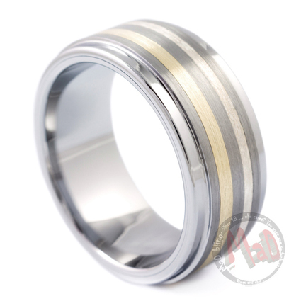 Stylish Gold Tungsten Rings for men at best price. | mad tungsten | Scoop.it
