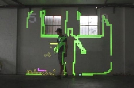 Mobile Projection Unit creates augmented reality Snake game - SlashGear | Augmented Reality & The Future of the Internet | Scoop.it