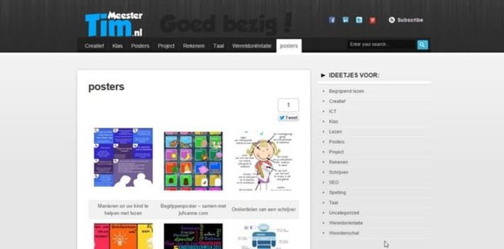 Edu-Curator: 'Meester Tim - Goed bezig!': mooie gratis posters voor gebruik in jouw groep | Educatief Internet - Gespot op 't Web | Scoop.it