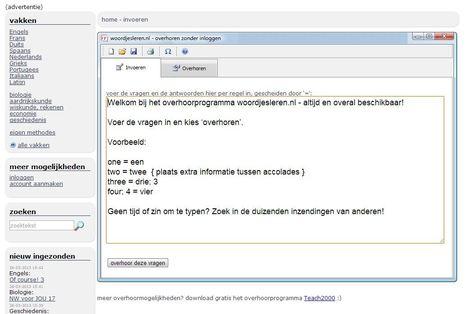 woordjesleren.nl: de grootste lijstenverzameling om te overhoren | ICT in  onderwijs | Scoop.it