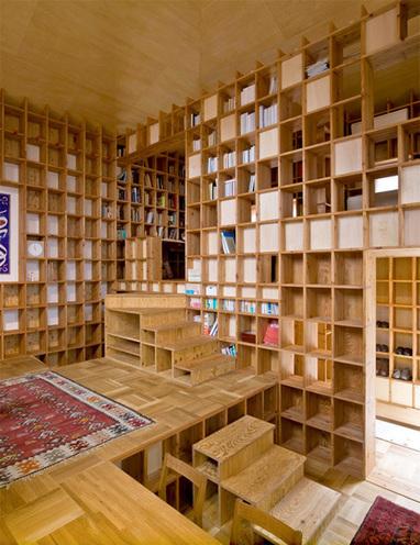Bookshelf House | rakarekodamadama | Scoop.it