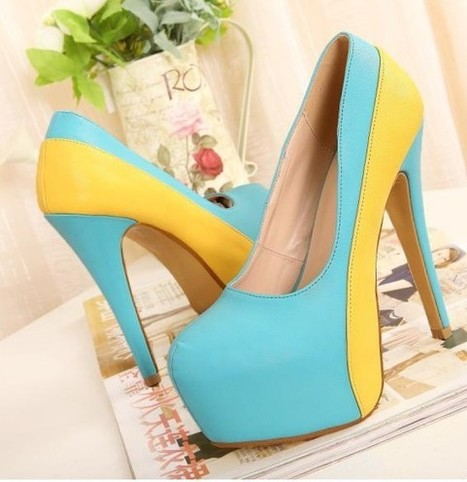 Wholesale Wholesale shoes comfortable fashion pumps XD-FD980-9 blue - Lovely Fashion | fashion chic styles(peep toe,pumps) | Scoop.it