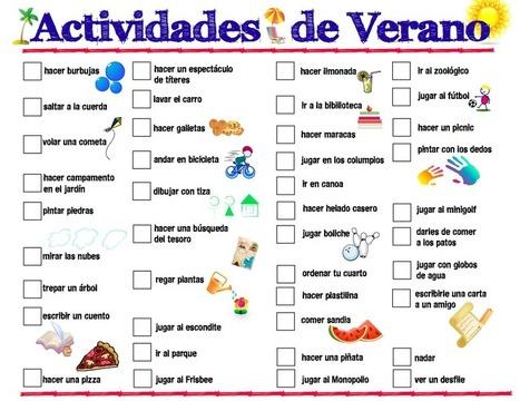 Printable Spanish Summer Activities List » Spanish Playground   Preschool Spanish   Scoop.it