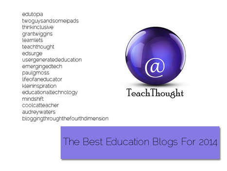 The Best Education Blogs For 2014: One List | Into the Driver's Seat | Scoop.it