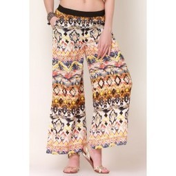 White & Multi Tribal Bliss Palazzo Pants   Online shopping for women   Scoop.it